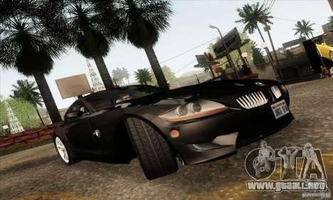 BMW Z4M para visión interna GTA San Andreas