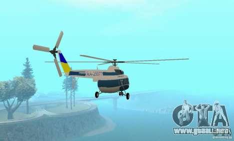 MI-17 civiles (Ucraniano) para GTA San Andreas left