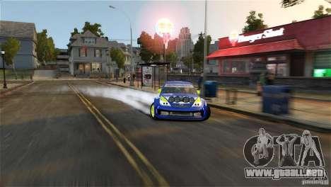 Subaru Impreza WRX STI Rallycross BFGoodric para GTA 4 vista desde abajo