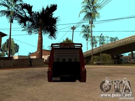 Ford Transit Tuning para GTA San Andreas vista posterior izquierda