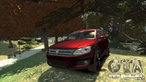 Volkswagen Tiguan 2012 para GTA 4 vista hacia atrás