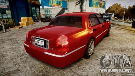 Lincoln Town Car 2003 para GTA 4 vista lateral