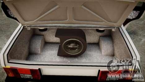 VAZ 21099 Tuning luz para GTA 4 vista interior