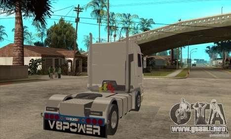 Scania 143M 500 V8 para la visión correcta GTA San Andreas