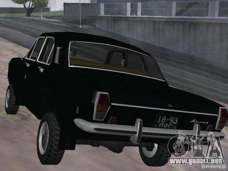 95 VOLGA GAZ-24 para GTA San Andreas vista posterior izquierda
