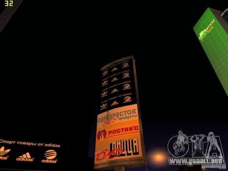 Reemplazo total de la tienda Binco Adidas para GTA San Andreas sucesivamente de pantalla
