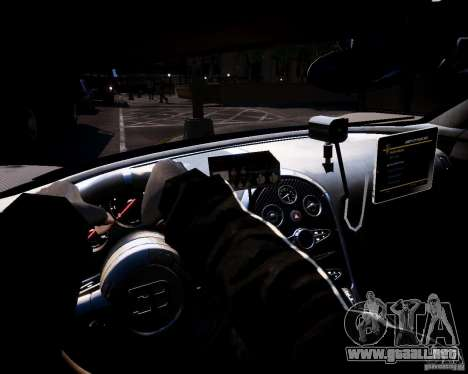 Bugatti Veryon SS COP para GTA 4 vista hacia atrás
