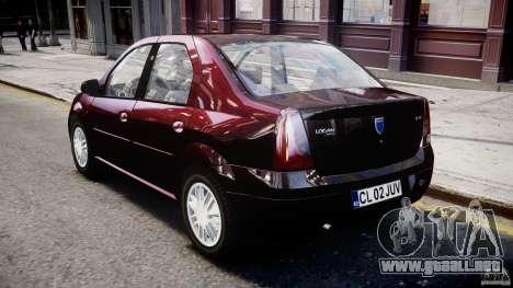 Dacia Logan 2007 Prestige 1.6 para GTA 4 visión correcta