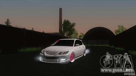 Mazda MazdaSpeed 3 para GTA San Andreas vista hacia atrás