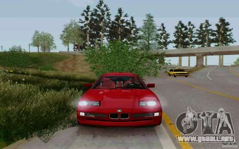 BMW 850i v2.0 Final para GTA San Andreas vista posterior izquierda