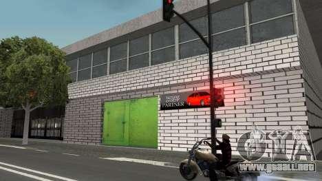 Estructura de garajes y edificios en SF para GTA San Andreas sucesivamente de pantalla