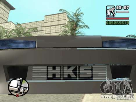 Elegy First Update By reNz para GTA San Andreas vista hacia atrás