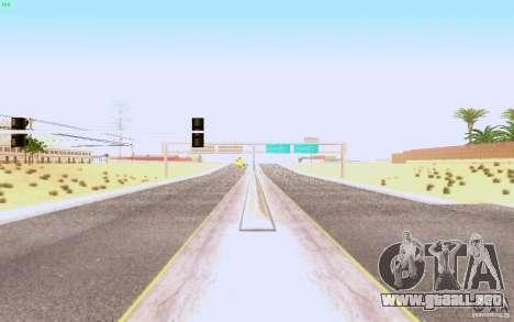 Asfalto HQ en Las Venturase para GTA San Andreas segunda pantalla