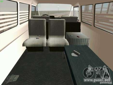 Zuk A-1805 para visión interna GTA San Andreas