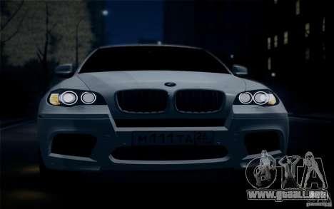 BMW X6M E71 para la visión correcta GTA San Andreas