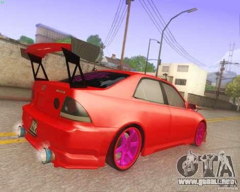 Toyota Altezza Drift Style v4.0 Final para visión interna GTA San Andreas