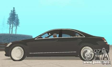 Mercedes-Benz S500 (w221) 2006 para la visión correcta GTA San Andreas