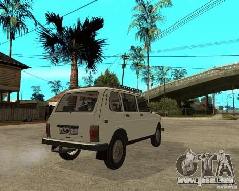 Vaz 2131 Niva para GTA San Andreas vista posterior izquierda