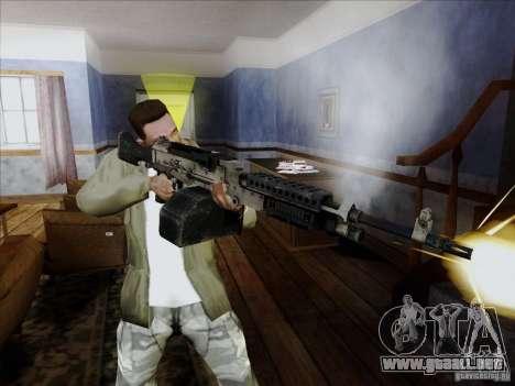 M240B para GTA San Andreas sucesivamente de pantalla