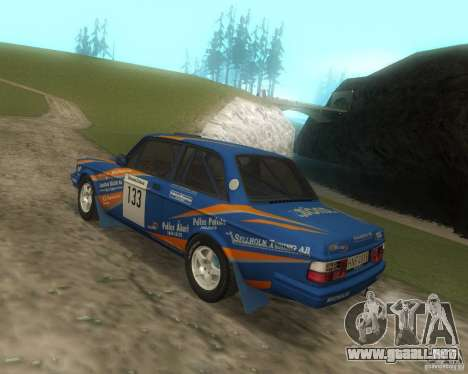 Volvo 242 Lightspeed Rally Edition para GTA San Andreas vista hacia atrás