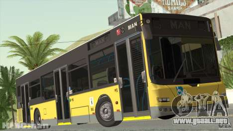 MAN Lion City para GTA San Andreas vista posterior izquierda