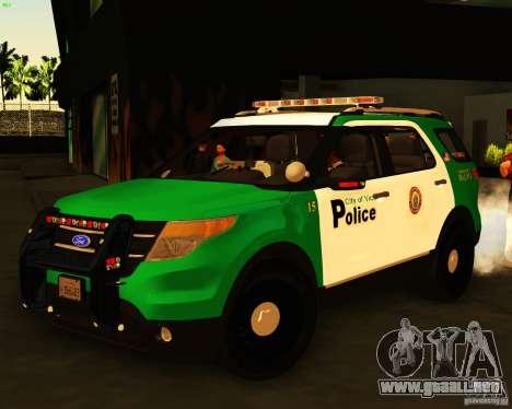 Ford Explorer 2011 VCPD Police para GTA San Andreas