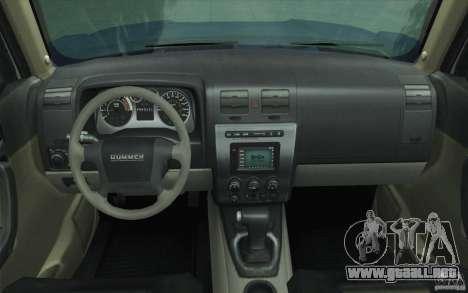 Hummer H3 para la vista superior GTA San Andreas