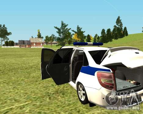 VAZ 2190 policía para la visión correcta GTA San Andreas