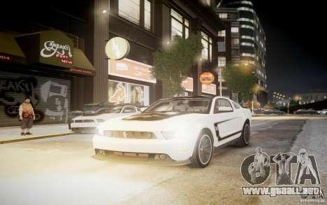 Ford Mustang 2012 Boss 302 v1.0 para GTA 4 Vista posterior izquierda