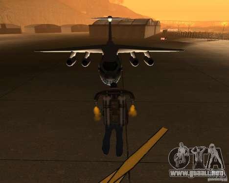 El IL-76 para GTA San Andreas vista hacia atrás