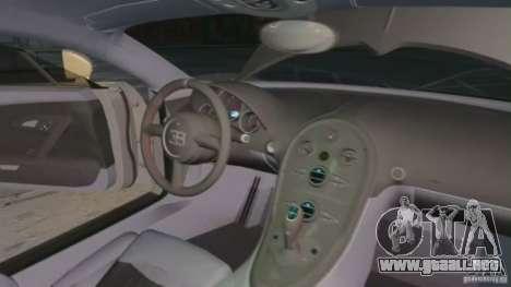 Bugatti Veyron 16.4 Super Sport para GTA 4 vista superior