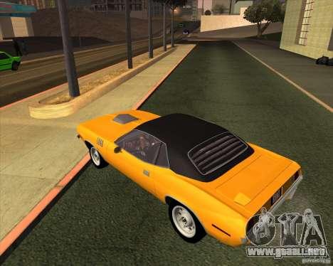 Plymouth Barracuda para GTA San Andreas left