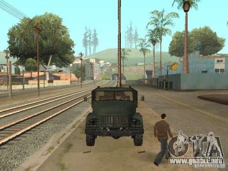 ZIL 131 camión para GTA San Andreas vista hacia atrás