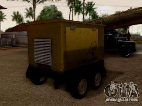 Trailer Generator para GTA San Andreas vista posterior izquierda
