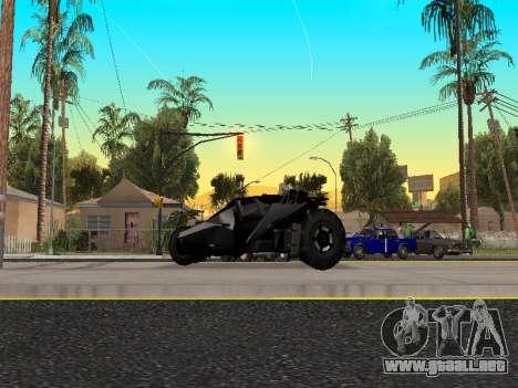 Tumbler Batmobile 2.0 para GTA San Andreas left