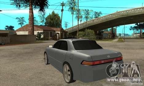 TOYOTA MARK II GT para GTA San Andreas vista posterior izquierda