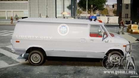 Chevrolet G20 Police Van [ELS] para GTA 4 vista hacia atrás