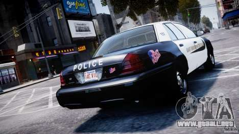 Ford Crown Victoria Massachusetts Police [ELS] para GTA 4 Vista posterior izquierda
