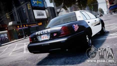 Ford Crown Victoria Massachusetts Police [ELS] para GTA 4 Vista posterior izquierda