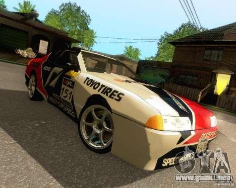 Need for Speed Elegy para vista inferior GTA San Andreas