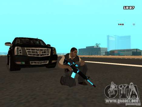 Black & Blue guns para GTA San Andreas sucesivamente de pantalla