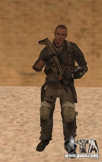 Yuri de Call of Duty Modern Warfare 3 para GTA San Andreas segunda pantalla