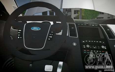 Ford Taurus SHO 2010 para GTA motor 4