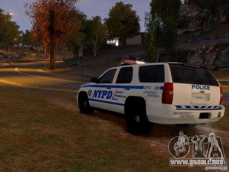 Chevrolet Tahoe New York Police para GTA 4 visión correcta