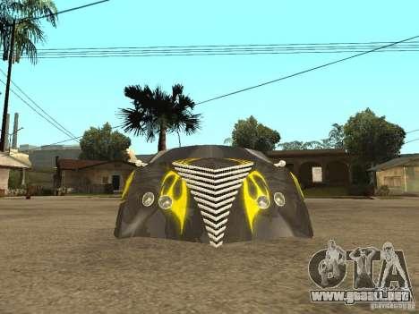 Thunderbold SlapJack para GTA San Andreas vista hacia atrás