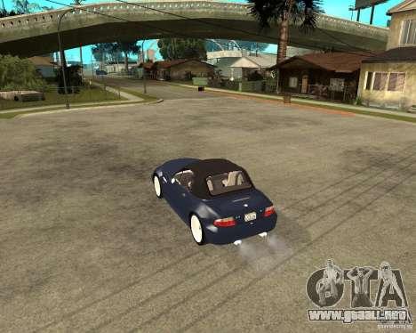 BMW Z3 Roadster para GTA San Andreas left