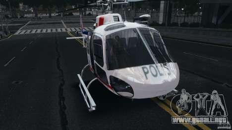 Eurocopter AS350 Ecureuil (Squirrel) Malaysia para GTA 4 left