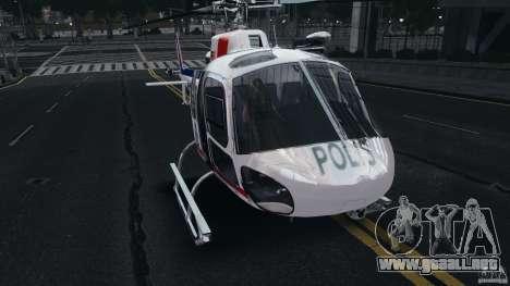 Eurocopter AS350 Ecureuil (Squirrel) Malaysia para GTA 4 left