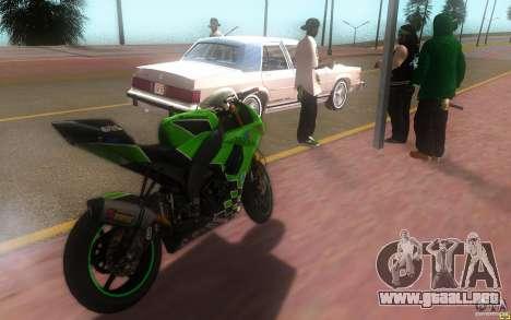Kawasaki Zx 10-R II para GTA San Andreas left