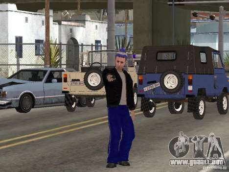 Gopnik pieles para GTA San Andreas quinta pantalla
